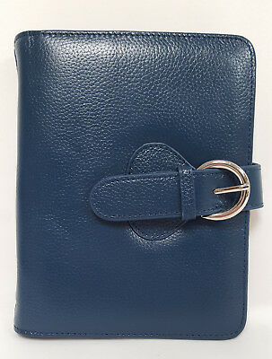 Leather Ava Binder Compact - Teal