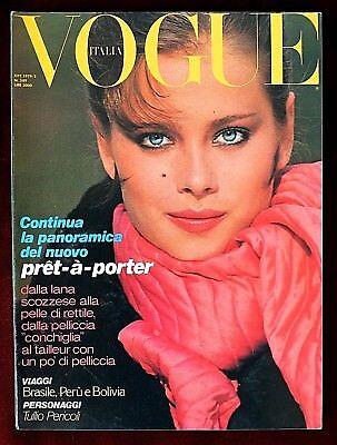 Vogue Italy Magazine ~ October 1979 ~ Francois Lamy Peter Lindbergh Barbieri