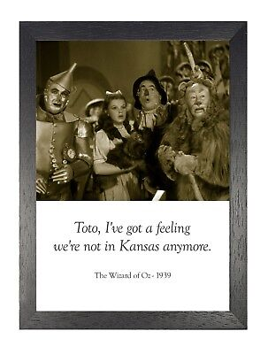 Wizard Of oz Amerikanische Musical Fantasie Film Zitat Vintage Poster Druck