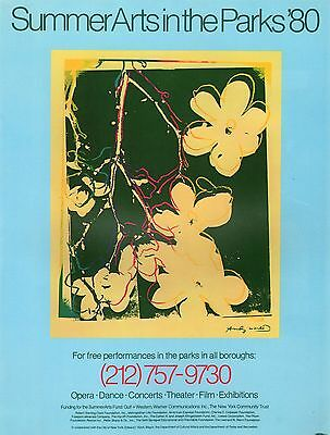 ANDY WARHOL POSTER ART ( PRINT)  NYC SUMMER ARTS IN PARKS THEATER FILM '80