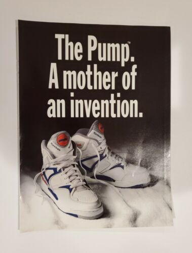 1990 Reebok THE PUMP Basketball Cross-Training Tennis shoes vintage 6 page Ad