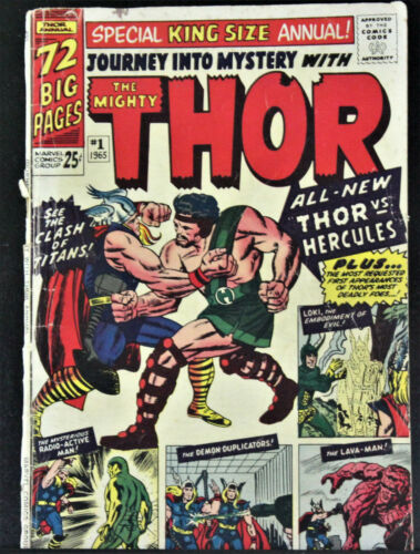 JOURNEY INTO MYSTERY ANNUAL #1, 1965 THOR,  1ST APP. HERCULES