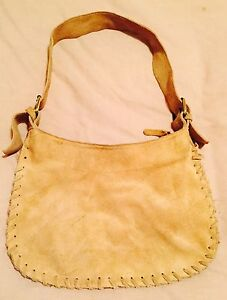 Genuine Caramel Suede Handbag in excellent used condition Aspendale Gardens Kingston Area Preview