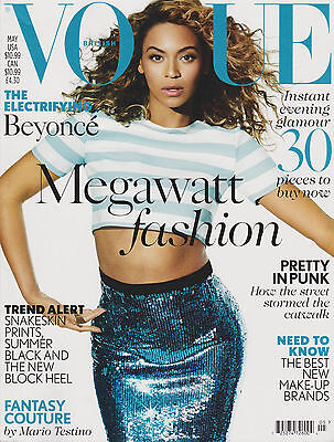 VOGUE BRITISH UK MAGAZINE MAY 2013, THE ELECTRIFYING BEYONCE, MEGAWATT FASHION.