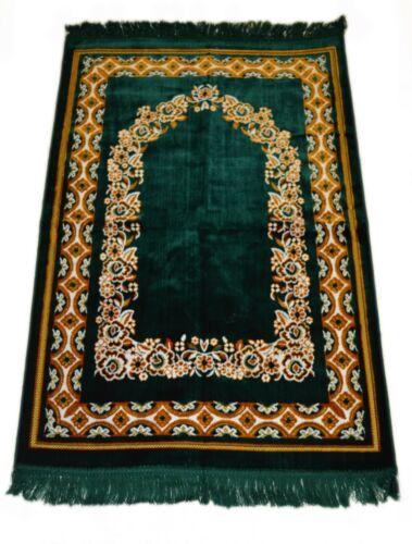 Prayer Rug Carpet Islamic Muslim Salah Meditation Mat Turkish Portable Green