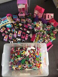 Huge Lego Friends & Barbie Mega Blocks Sets Books