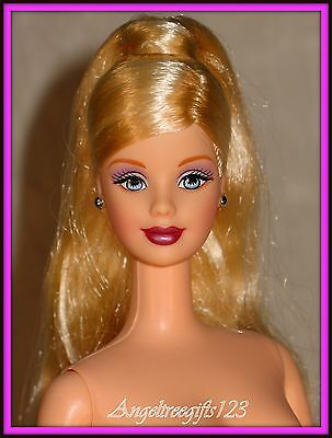 Nude holiday mackie face sculpt long blonde high ponytail rooted lashes
