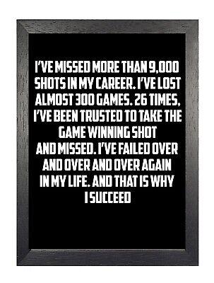 Michael Jordan 3 American Basketball Player Motivation Inspiration Quote Poster