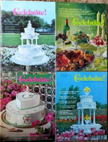 CELEBRATE!: The Magazine for Cake & Good Decorators - 4 Issues - 1973-1974