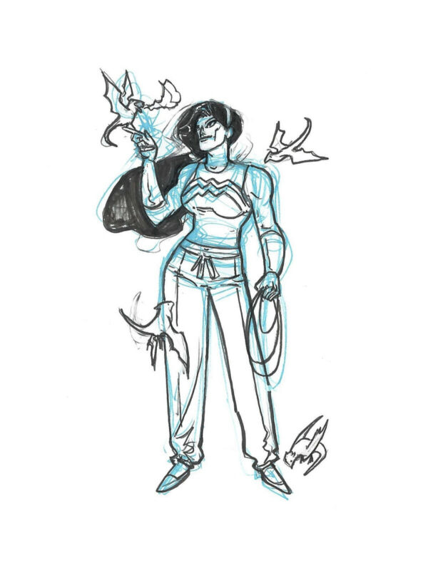 Riley Rossmo - Wonder Woman Original Art Sketch