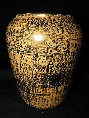 Vintage~MID CENTURY~ STANGL~ Hand Painted GRANADA GOLD #3685 VASE~EXCEPTIONAL!
