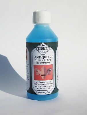 Genuine Liberon TOURMALINE Antiquing Fluid Black / 250ml Patination Fluid