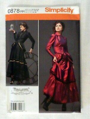 Simplicity 0878 Pattern Victorian Steampunk Costume Dress Jacket Sz 14-22 Uncut