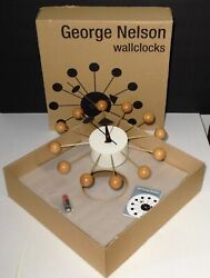 Original George Nelson Beech Ball Clock by VITRA DESIGN MUSEUM