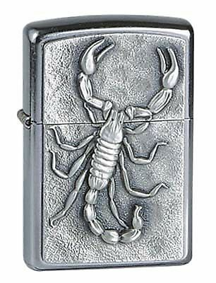 ZIPPO Benzin Feuerzeug Scorpion Emblem Skorpion Plakette NEU PORTOFREI