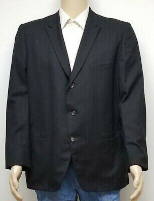 1950s Mens Suits & Sport Coats   50s Suits & Blazers Vintage 1950s Men's Charcoal/Black Blazer Suit Smoking Jacket - Eagle Clothing $22.92 AT vintagedancer.com