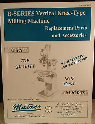 Mataco Catalog Bridgeport Mill Parts List Lathe Cnc Grinder Tooling Wire Edm