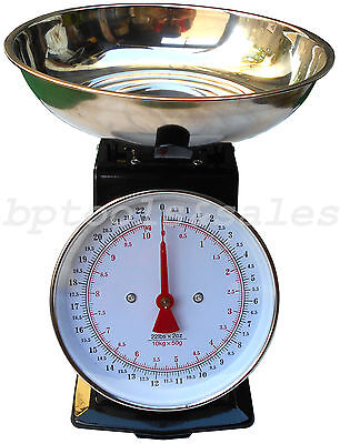 - 22lb Platform Scale Dial Kitchen Home Scale Stainless Steel Bowl Produce Food
