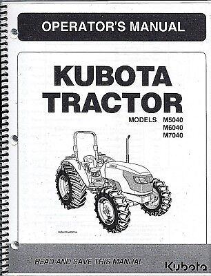 Kubota M5040 M6040 M7040 Operator Manual 3c021-99714 Rops