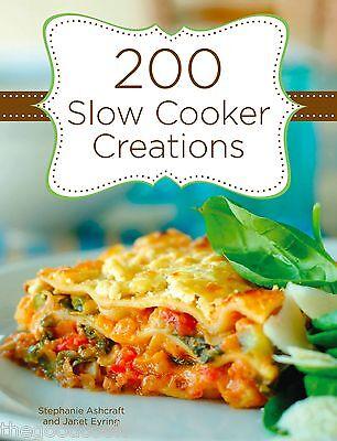 New 200 Slow Cooker Creations Crock Pot Recipes Hardcover Spiral Bound  Cookbook