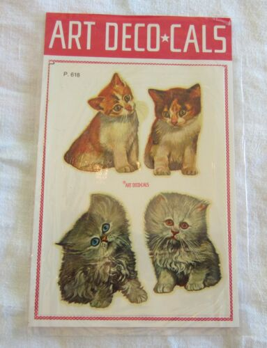 Marcel Schurman Decals kittens, cats made in Italy 1960