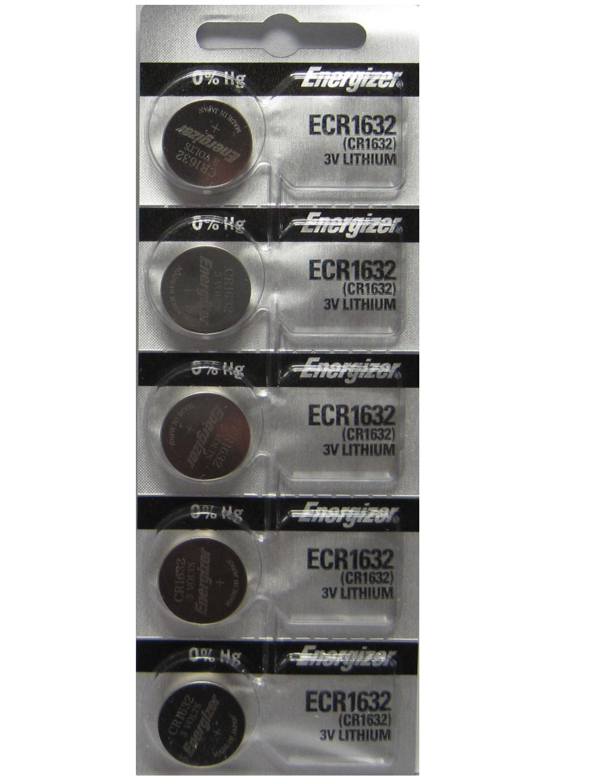 5 PACK Fresh ENERGIZER CR1632 ECR1632 1632 3V Lithium Coin Battery Exp 2030 Consumer Electronics