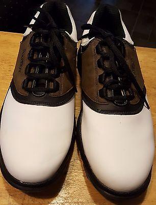 FootJoy Golf greenjoy shoes brown/white unisex saddle shoes size 9 1/2-M cleats