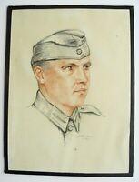 Farbige Zeichnung Soldat der Deutschen Wehrmacht von 1943 Baden-Württemberg - Königsbach-Stein  Vorschau