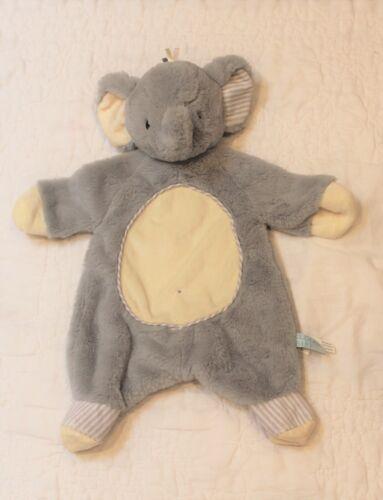 Douglas Baby Gray/Yellow Soft Plush Elephant LOVEY SECURITY BLANKET 18