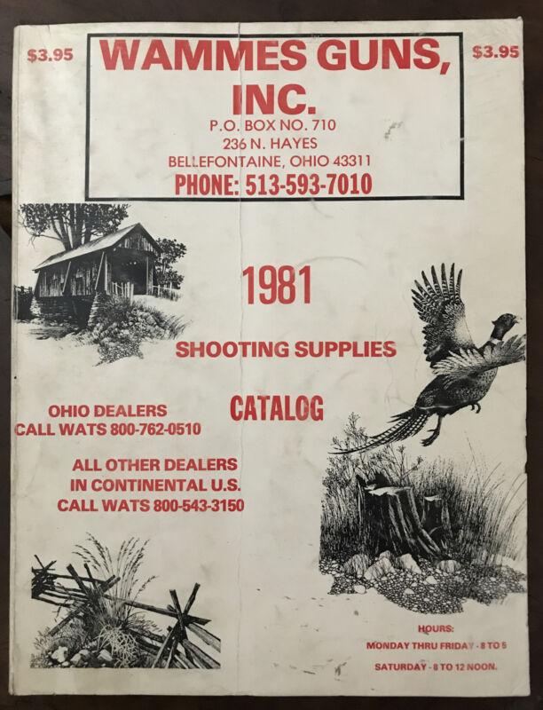 Vintage 1981 Wammes Guns Inc. Shooting Supplies Catalog Hunting Outdoors