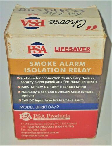 PSA LIFESAVER Smoke Alarm Isolation Relay LIFRK10A/9 GENUINE NEW