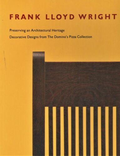 Frank Lloyd Wright Furniture Windows Graphic Arts Decorative Arts / Scarce Book