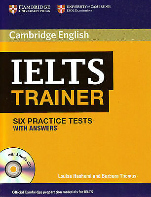 Cambridge English IELTS TRAINER Six Practice Tests w Answers & 3 Audio CDs @NEW