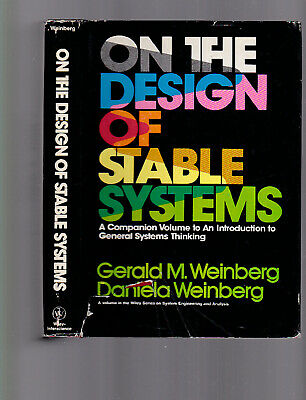 On The Design of Stable Systems, Gerald/Daniela Weinberg, 1979 HC with DJ, nice for sale  Shipping to India