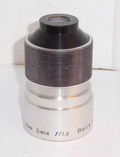 """Bell & Howell ~ 16mm 2"""" Inch F/1.2 Projection Lens"""