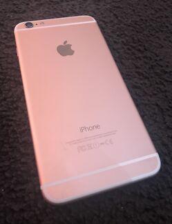 iPhone 6+ 64Gig Rose Gold w Black screen
