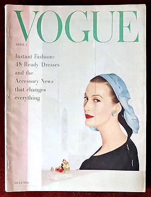Vogue Magazine ~ April 1, 1955 ~ Horst Kim Novak William Klein Marc Chagall