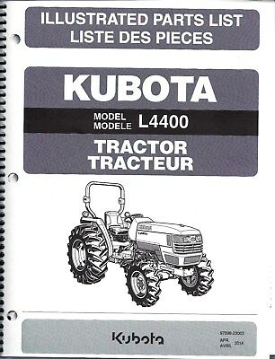 Kubota L4400 Tractor Illustrated Parts Manual 97898-23063