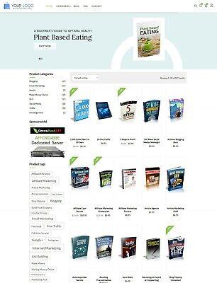 Ebooks Shop Website For Sale Preloaded Free Hosting Installation