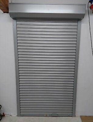 Garagentor Rolltor Manuell 1950x2350 Silber auf Maß TOP
