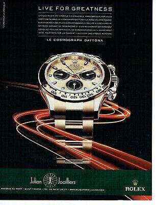 Publicité Advertising 049  2011   montre Rolex  cosmograph daytona