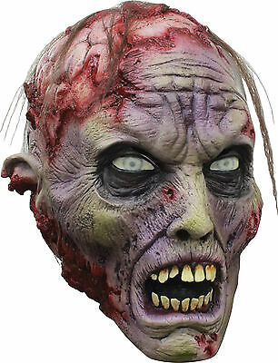 Halloween BLOODY ZOMBIE BRAINS ADULT LATEX DELUXE MASK COSTUME Haunted House NEW (Halloween Brain Mask)