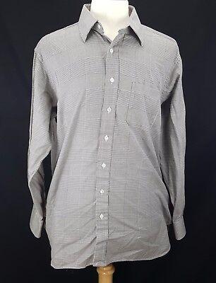 Mens Robert Talbott Best of Class Button Shirt Size XXL 43 / 17 Gray