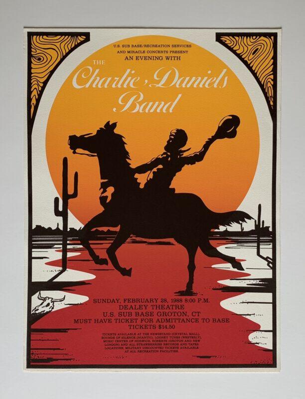 Charlie Daniels Band Original Concert Poster