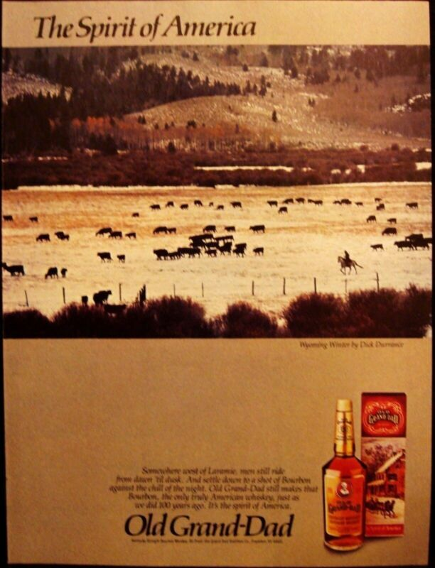 OLD GRAND DAD BOURBON WHISKEY AD - HONDA ACCORD 2 PAGES VINTAGE 1981 ADVERTISING