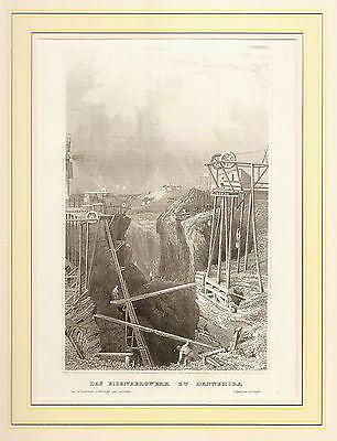 Stich Bergwerk Dannemora, Mine, Bergbau, Östhammar, Uppsala län, Schweden 1860