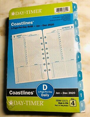 Day-timer Coastlines 2020 Daily Monthly Planner 8.5x5.5 Refill 4