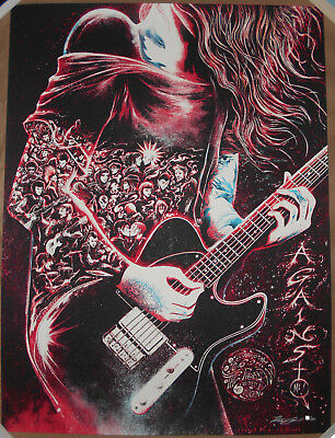 Against Me! 2017 Toronto Ontario Canada Miles Tsang Print Poster Signed #d AP