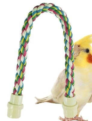 1673 14inch Parrot Rope Perch bird toy cage parakeets, lovebird, caique, conure