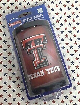 Texas Tech LED Night Light Sensor NCAA College University Plug In Outlet BX33